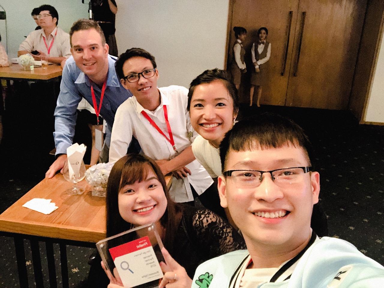 Bluesummit team at Google Premier Partner's Awards event 2018