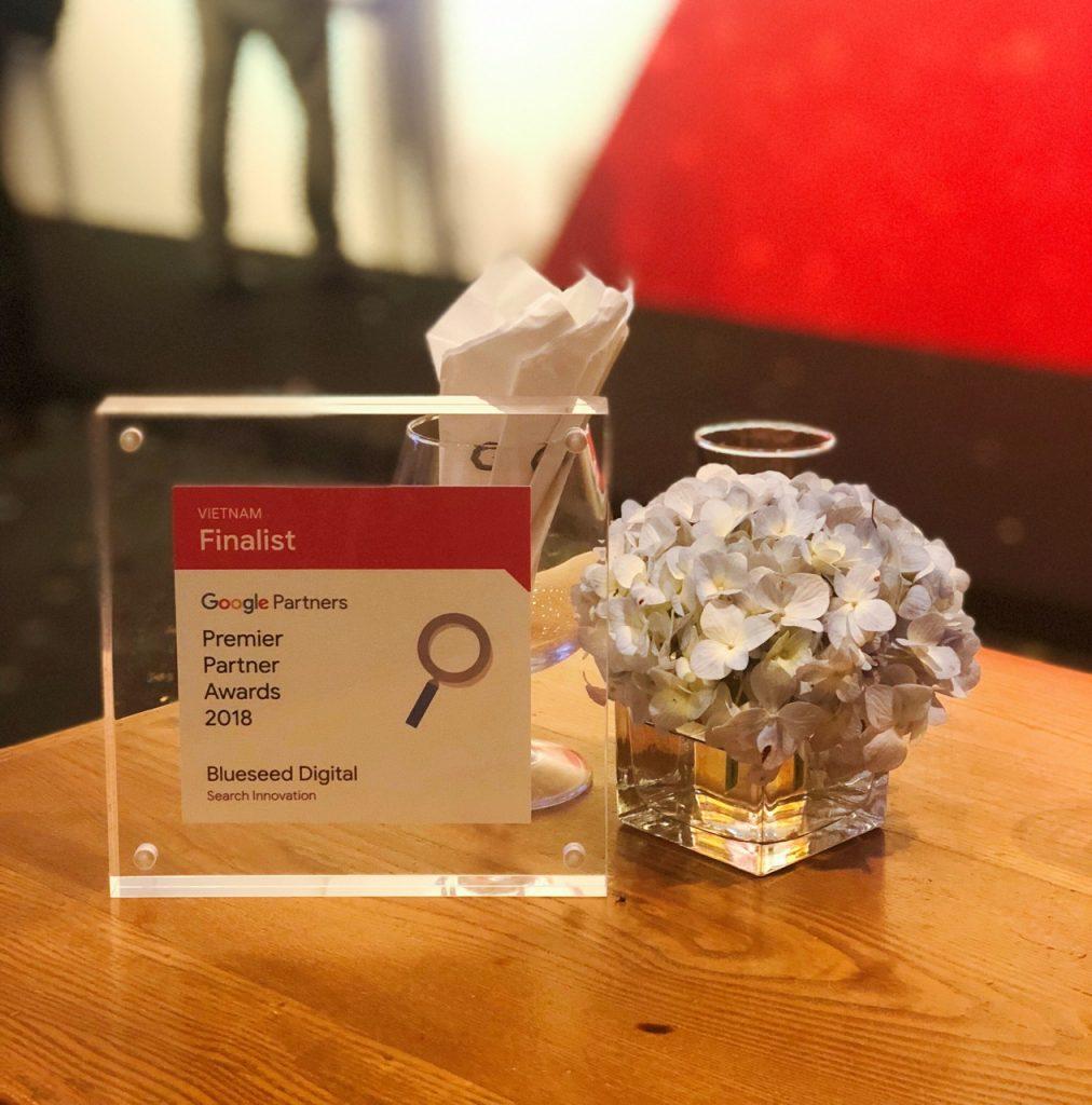 Google Premier Partners Award Finalist trophy